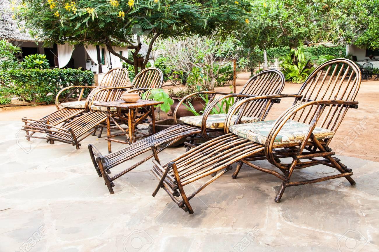 African Garden Furniture Kenya elegant furniture made of wood in an african garden stock elegant furniture made of wood in an african garden stock photo 28263486 workwithnaturefo