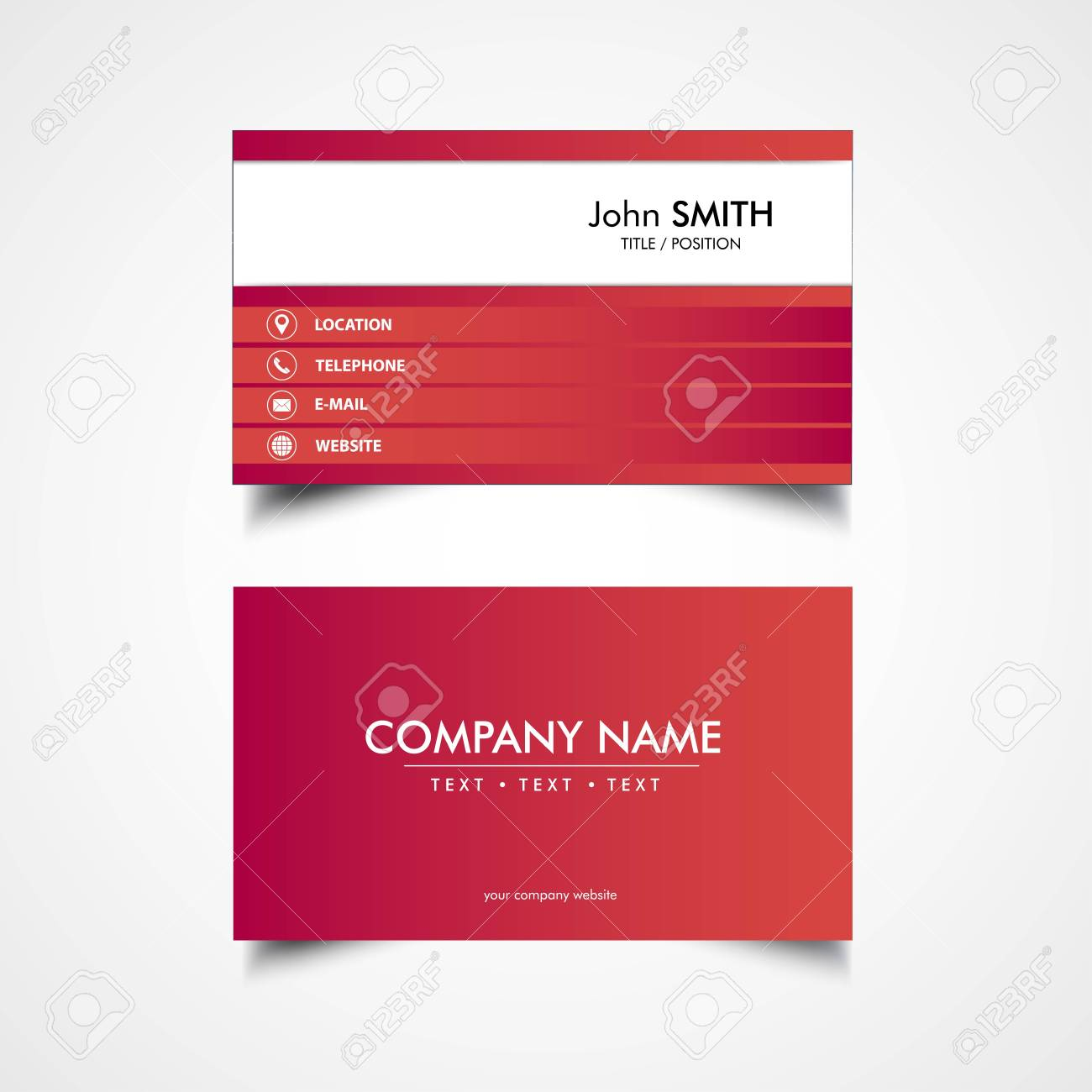 Simple Business Card Template Vector Illustration Eps File - Business card template eps