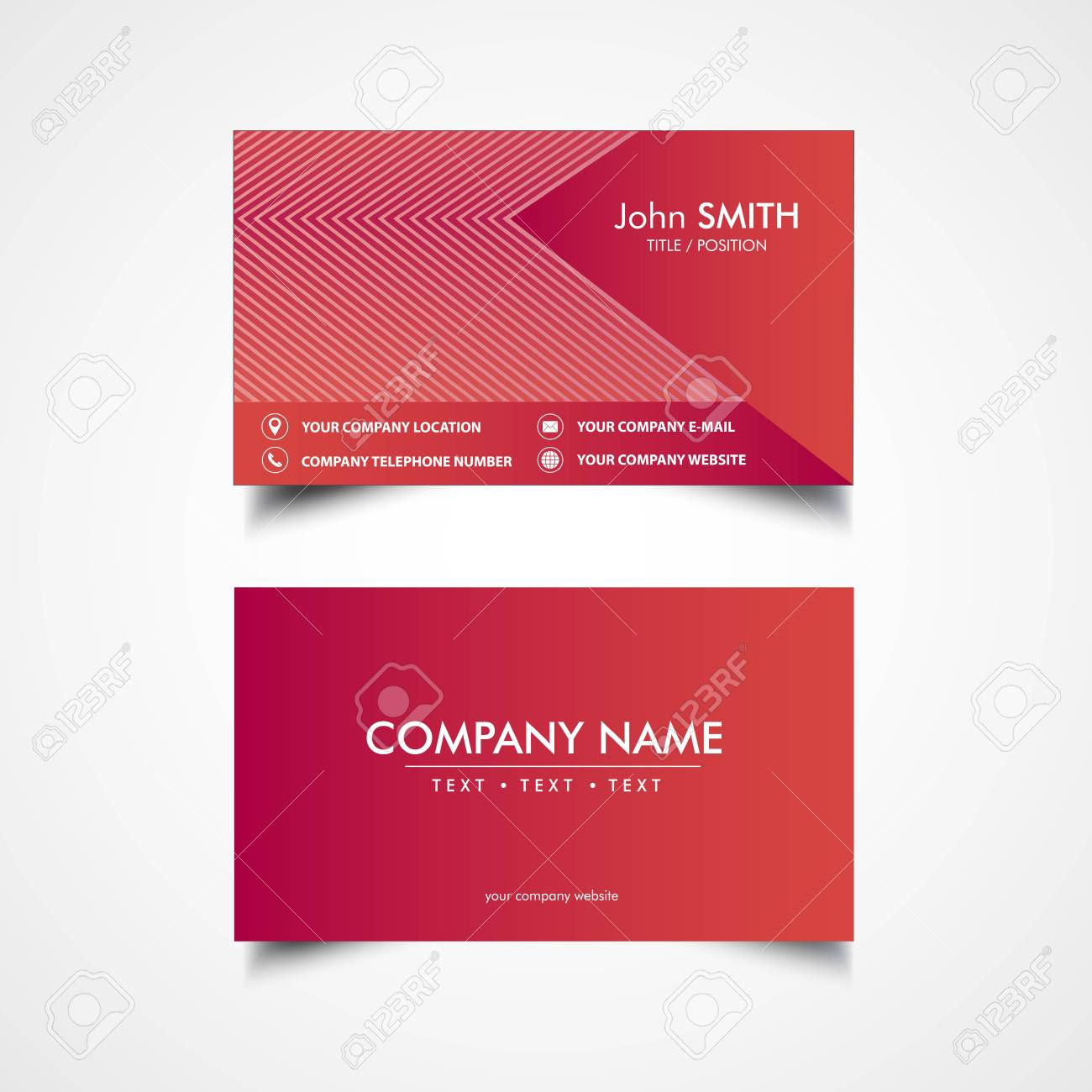 Simple business card template vector illustration eps file simple business card template vector illustration eps file stock vector 83413609 friedricerecipe Gallery