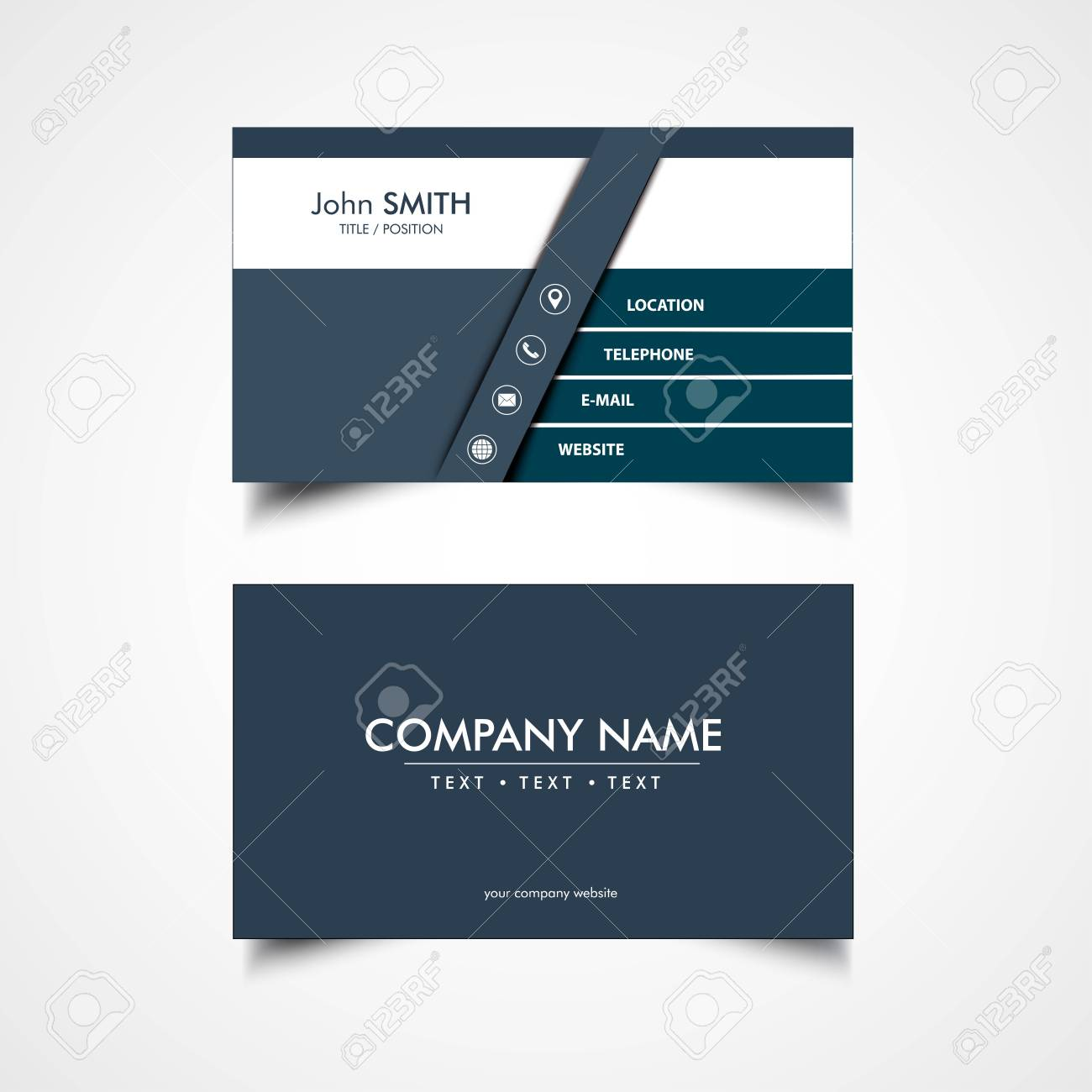 Simple business card template vector illustration eps file simple business card template vector illustration eps file stock vector 83413610 reheart Gallery