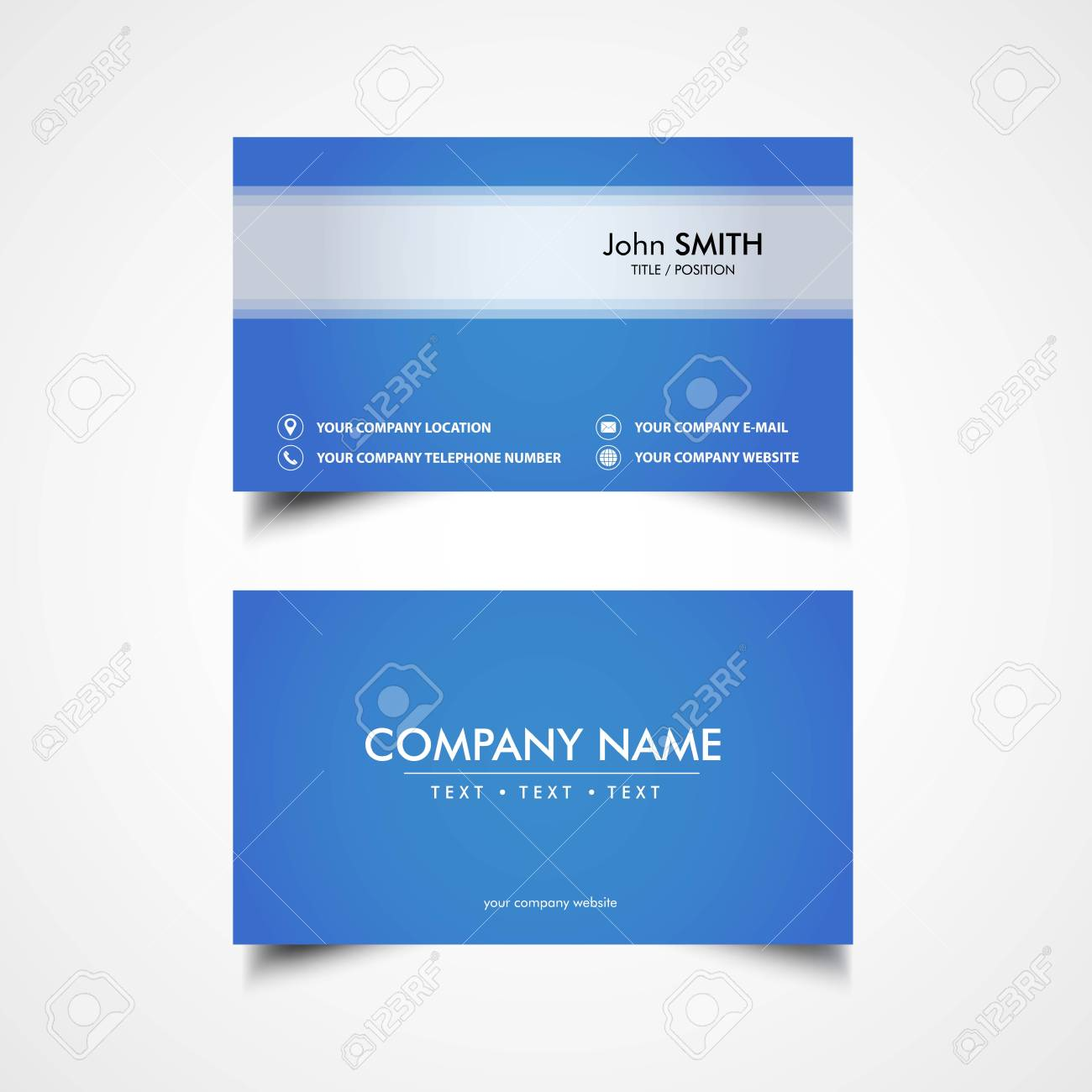 Simple Business Card Template, Vector, Illustration, Eps File ...