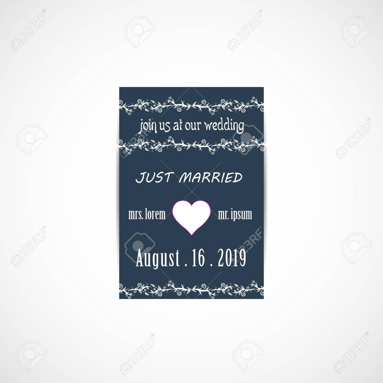 Wedding invitation card vector illustration eps file royalty free wedding invitation card vector illustration eps file stock vector 84412151 stopboris Gallery
