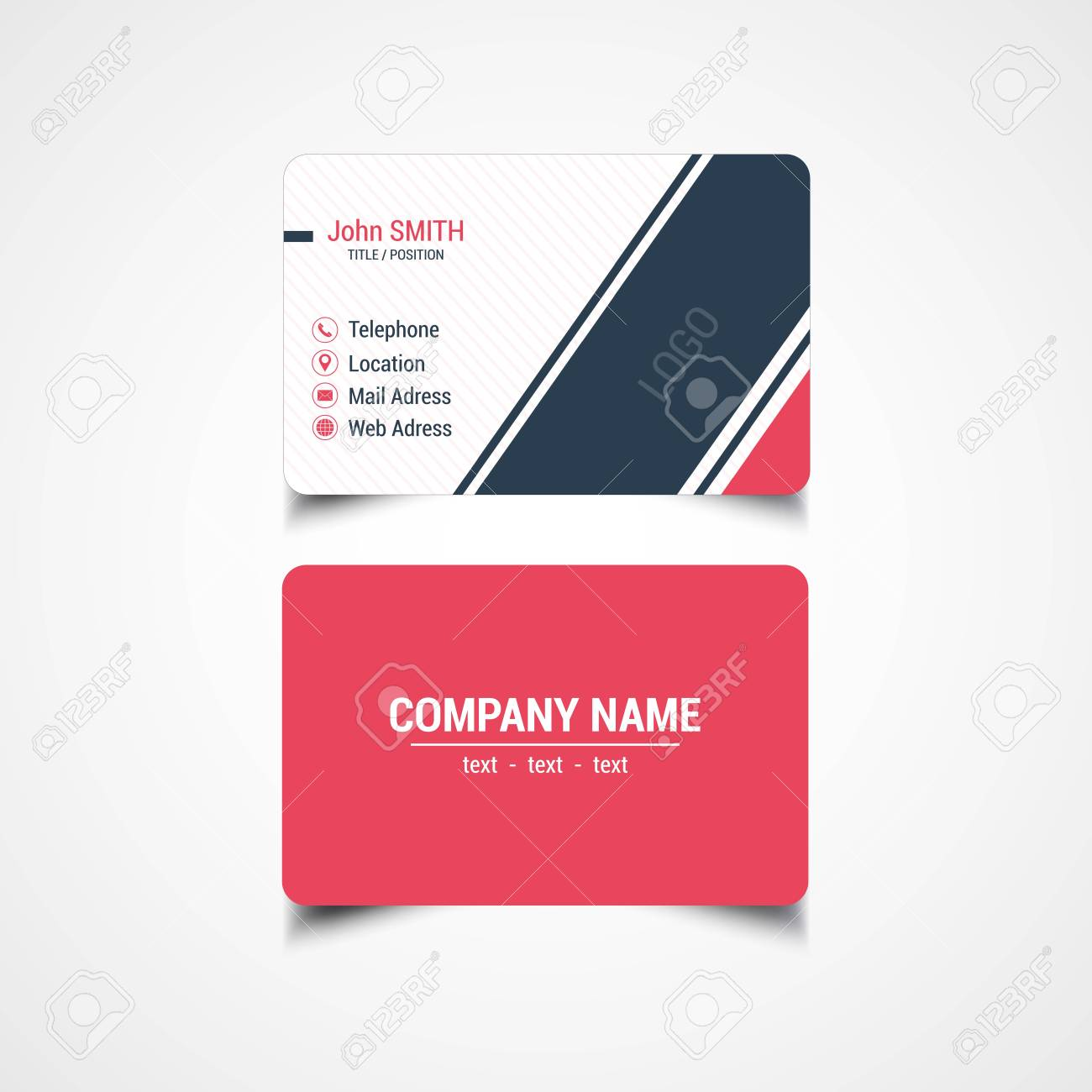 Round corner business card template vector illustration royalty round corner business card template vector illustration stock vector 85343654 reheart Gallery