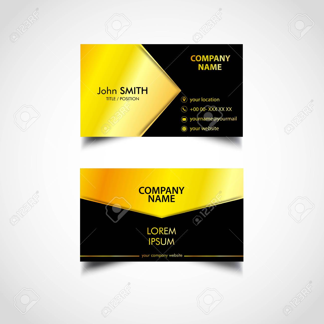 Golden business card template vector us size eps file royalty golden business card template vector us size eps file stock vector 92737683 fbccfo Choice Image