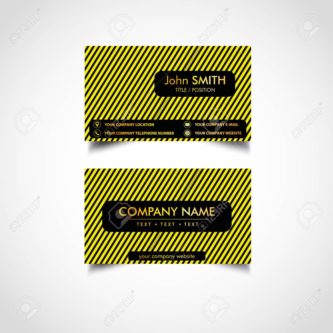 Golden business card templates design vector illustration royalty golden business card templates design vector illustration stock vector 96106835 reheart Gallery