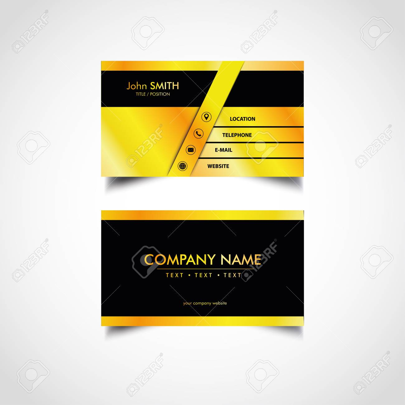 Golden business card templates design vector illustration royalty golden business card templates design vector illustration stock vector 96106844 reheart Gallery