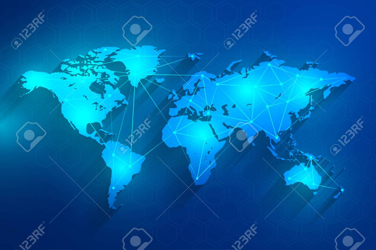 Global network connection blue background, vector, illustration, eps file - 142732253