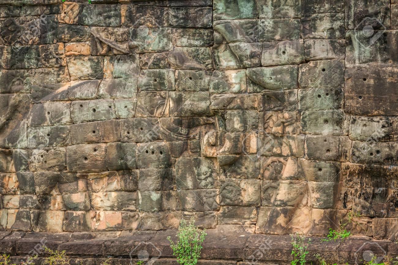 Terraza De Los Elefantes Angkor Thom Siem Reap Camboya