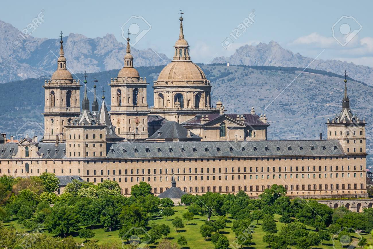 The Royal Seat Of San Lorenzo De El Escorial Historical Residence Stock Photo Picture And Royalty Free Image Image 43526827