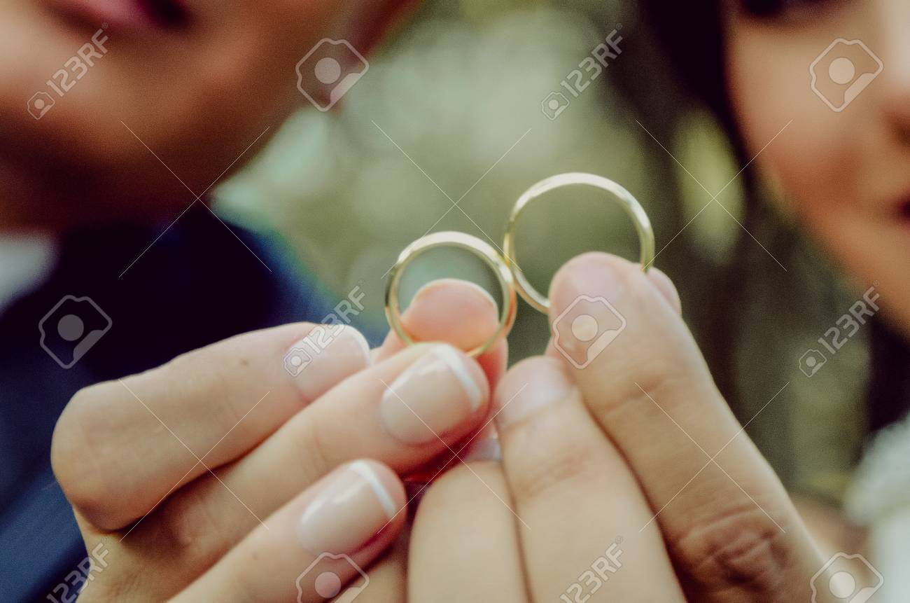 Wedding Rings On Their Fingers With The Bride And Groom Funny