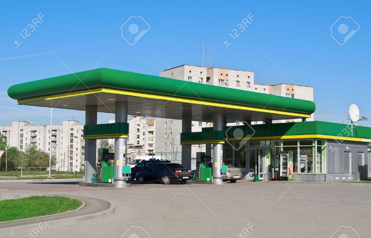 gas station on a background sky - 7111711