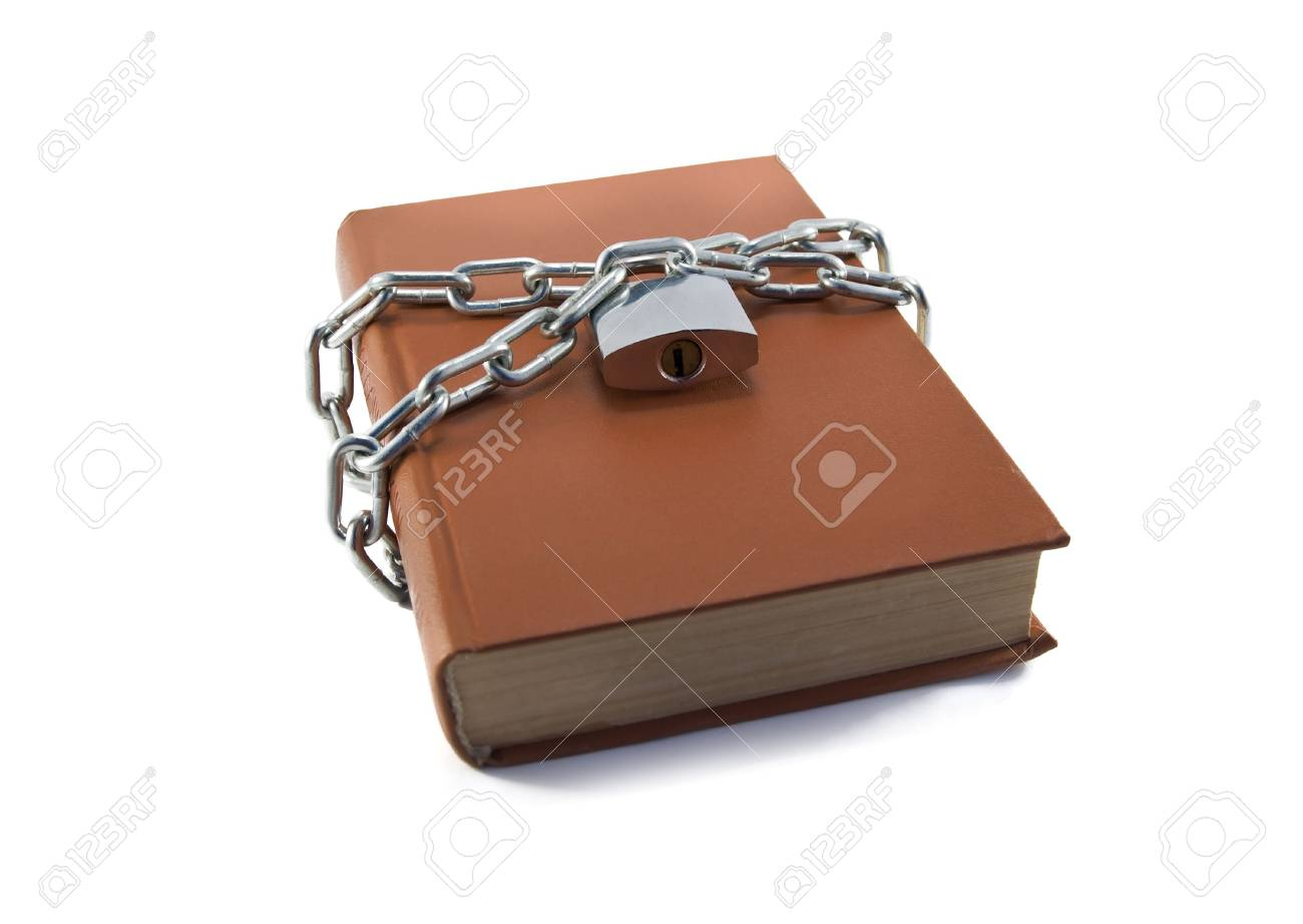 secured book isolated on a white background Stock Photo - 7263176