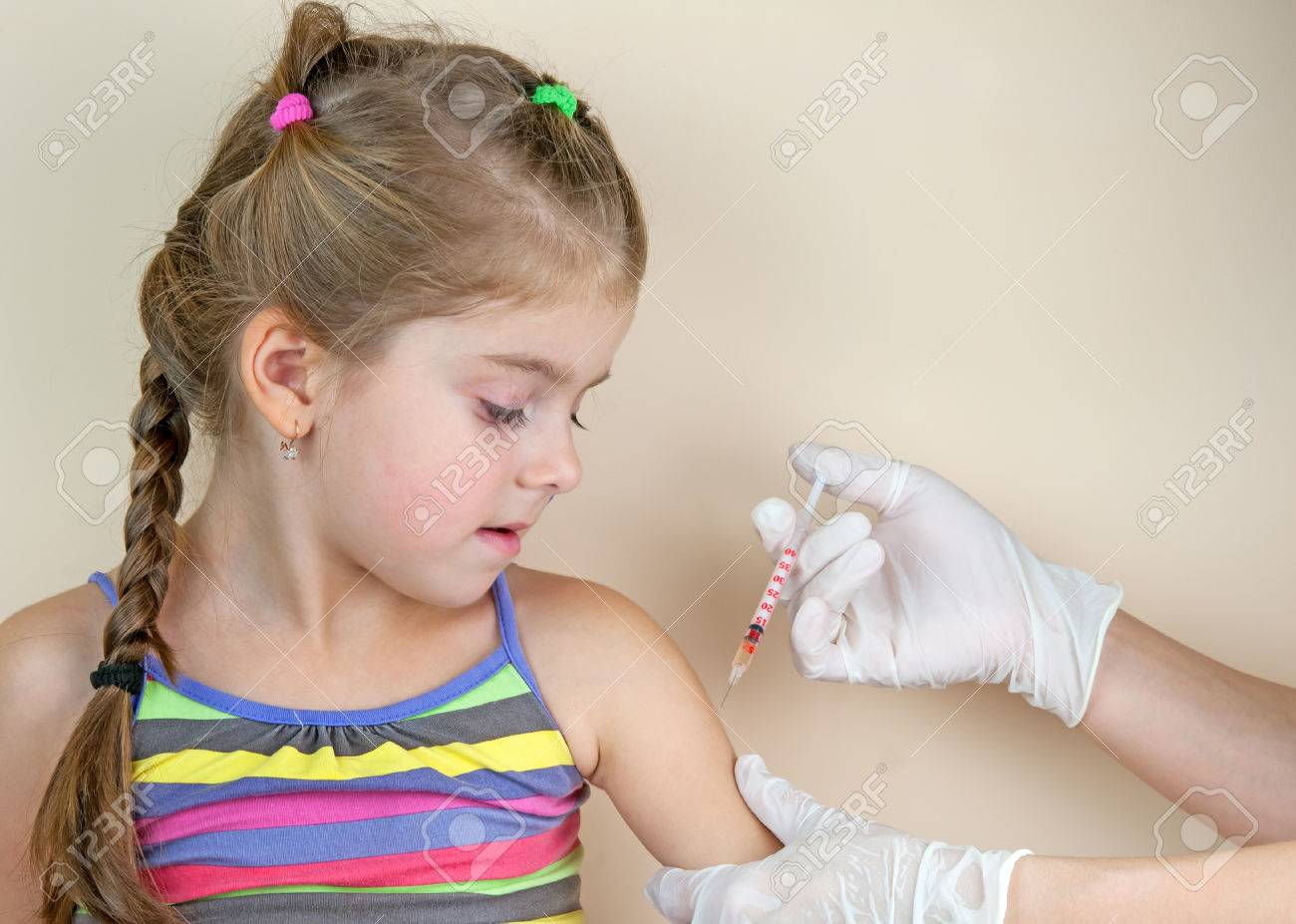 child vaccinations close up - 49202727