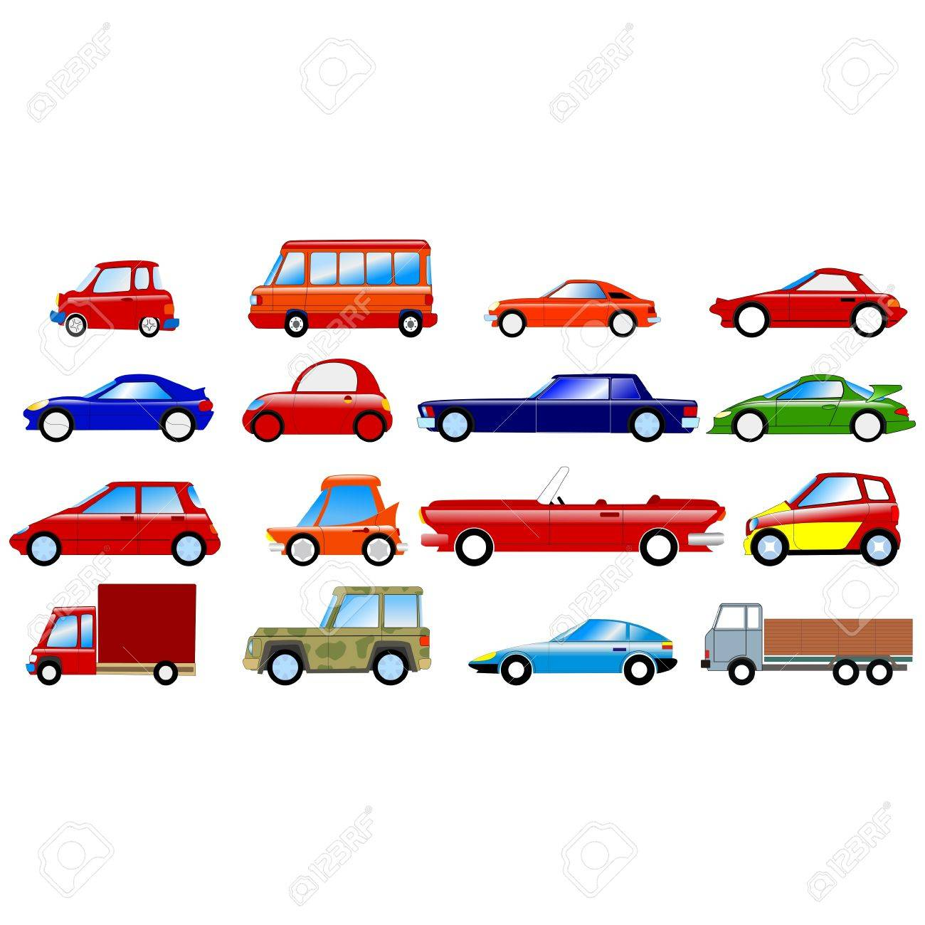 Big set of the different symbolic cars Stock Vector - 11234796
