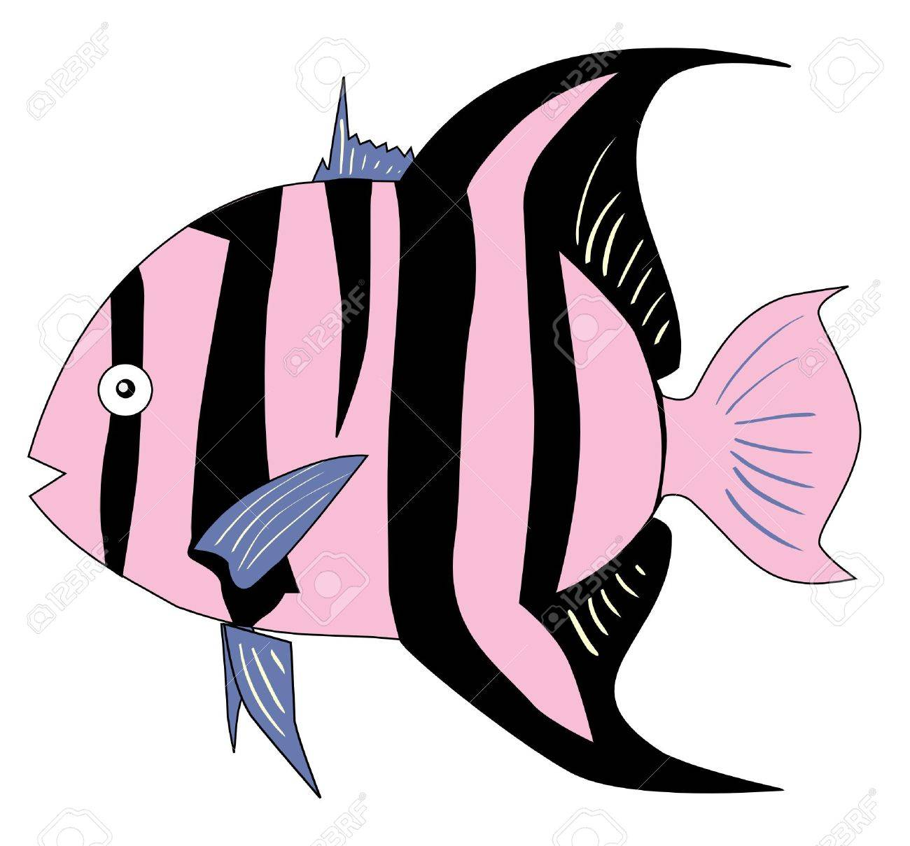 One colored illustration of a tropical fish Stock Vector - 11611422