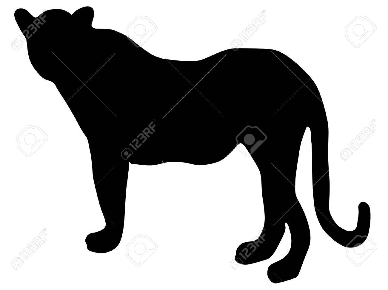 Set with africa animals black white stock vector 169 insima - Leopardo Fondo Blanco Una Silueta De Color Negro De La Serie De Animales De