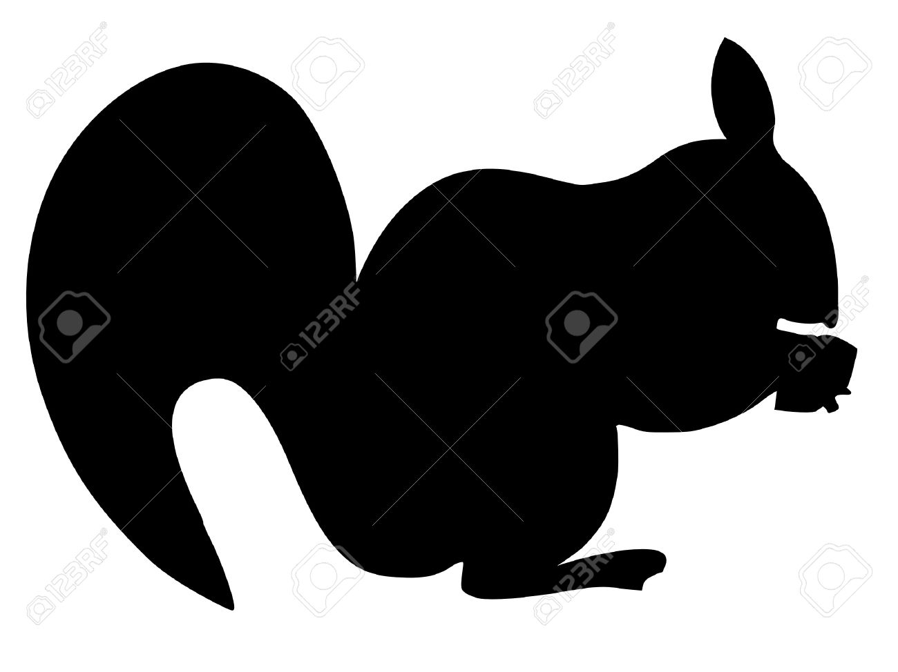 squirrel silhouette images  stock pictures royalty free squirrel  - squirrel silhouette a black silhouette of serie of animals squirrel