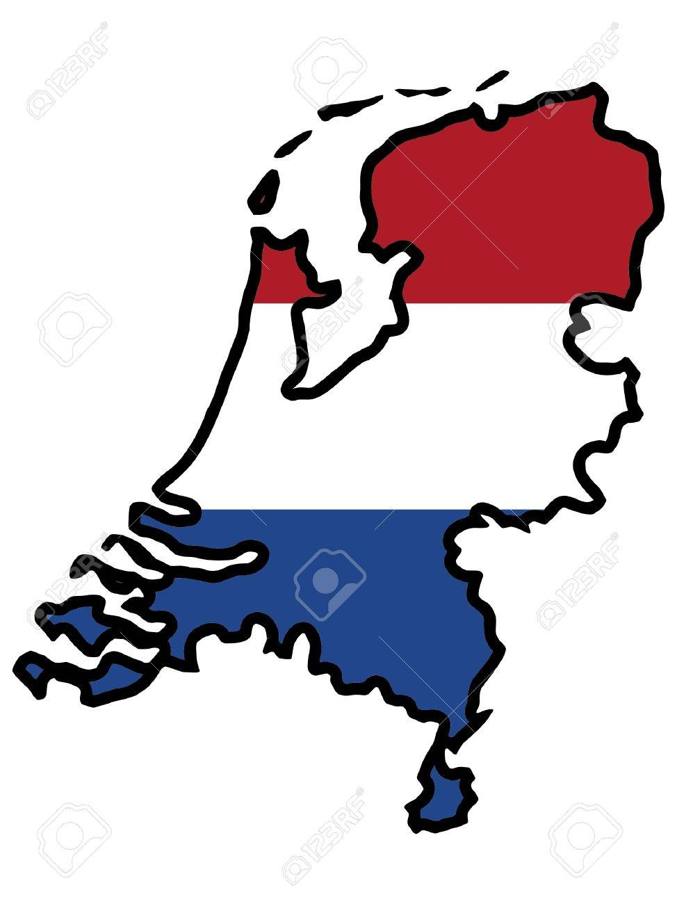 Illustration of flag in map of Netherlands Stock Vector - 11649043