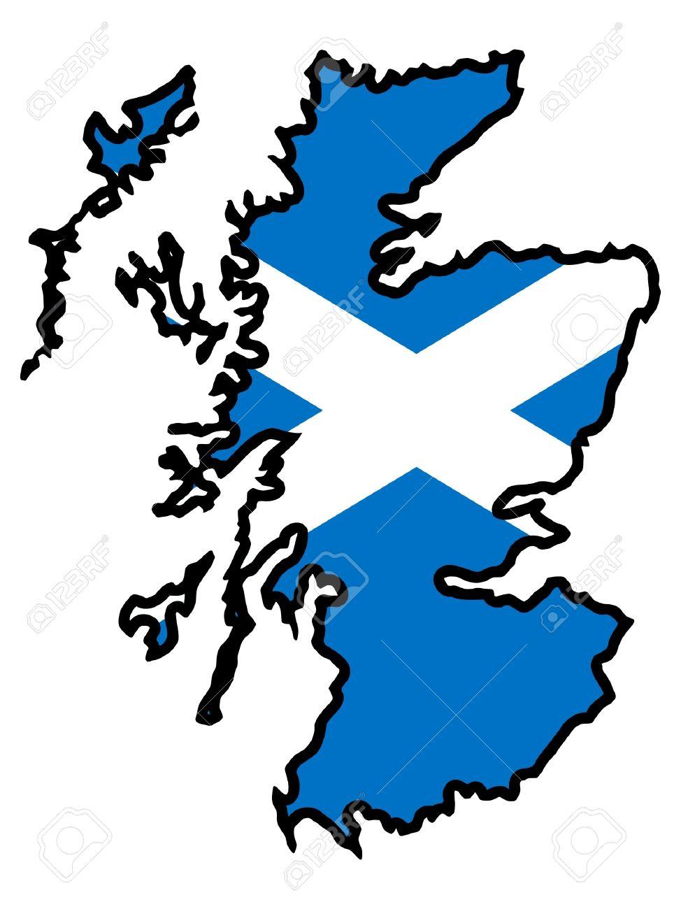 Illustration of flag in map of Scotland on scotland x france, scotland map outline, island of islay scotland map, scotland map google, scotland county map, scotland shortbread recipe, scotland beach, scotland name map, scotland community, scotland on map, scotland map large, scotland lion, scotland travel map, silhouette scotland map, scotland football map, scotland tattoo, scotland road map,