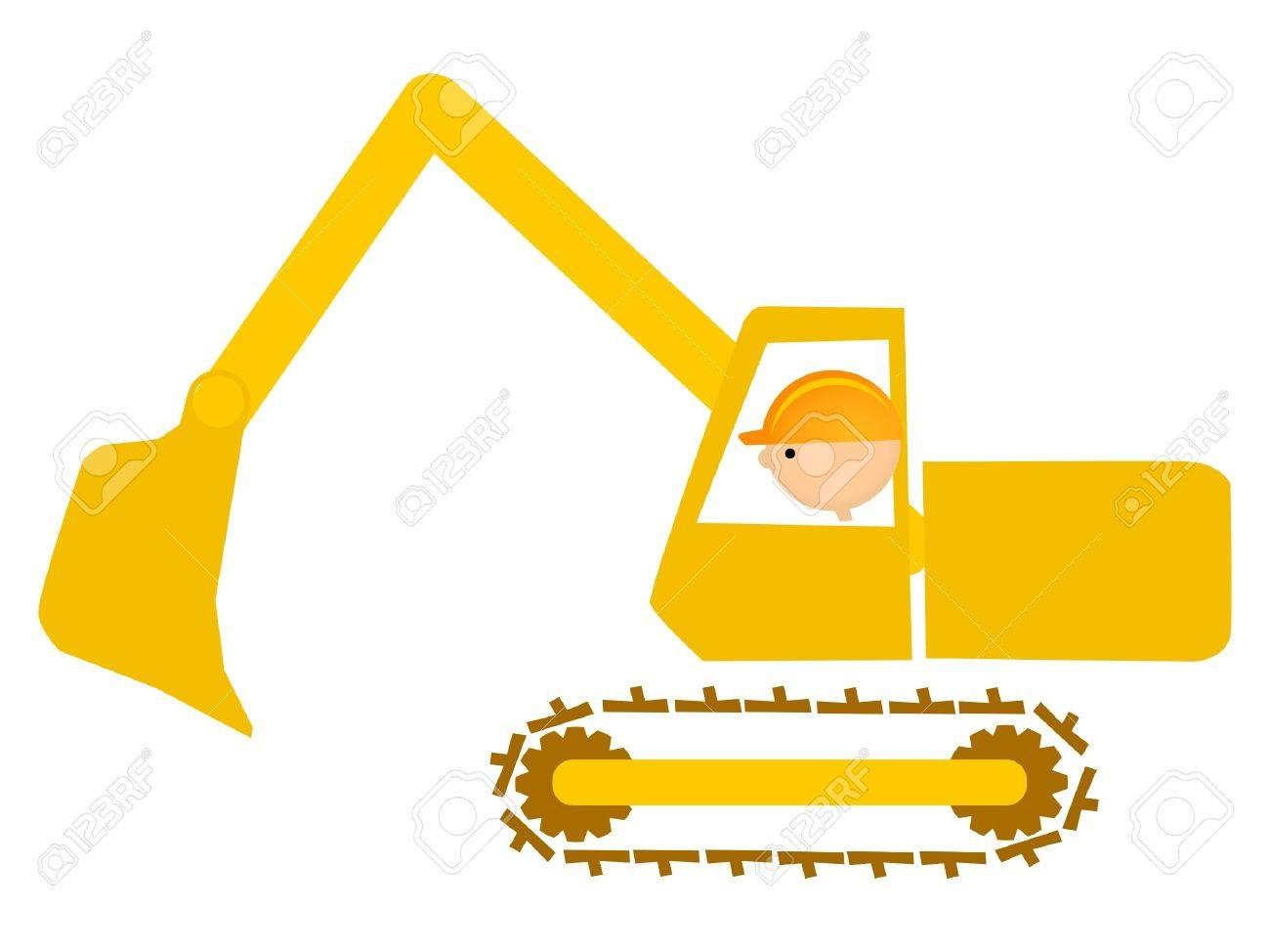 shovel man Stock Vector - 11649086