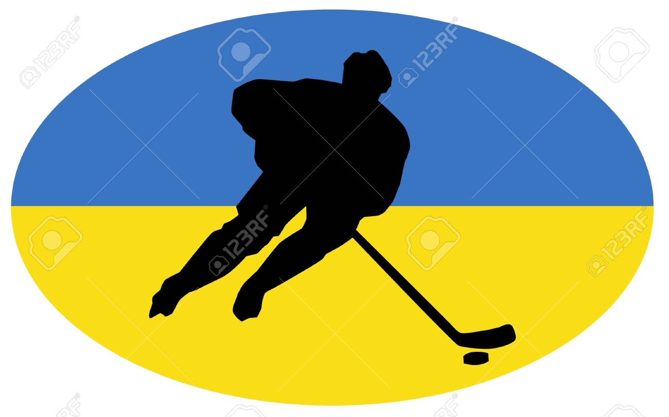 hockey colors of Ukraine Stock Vector - 11751417