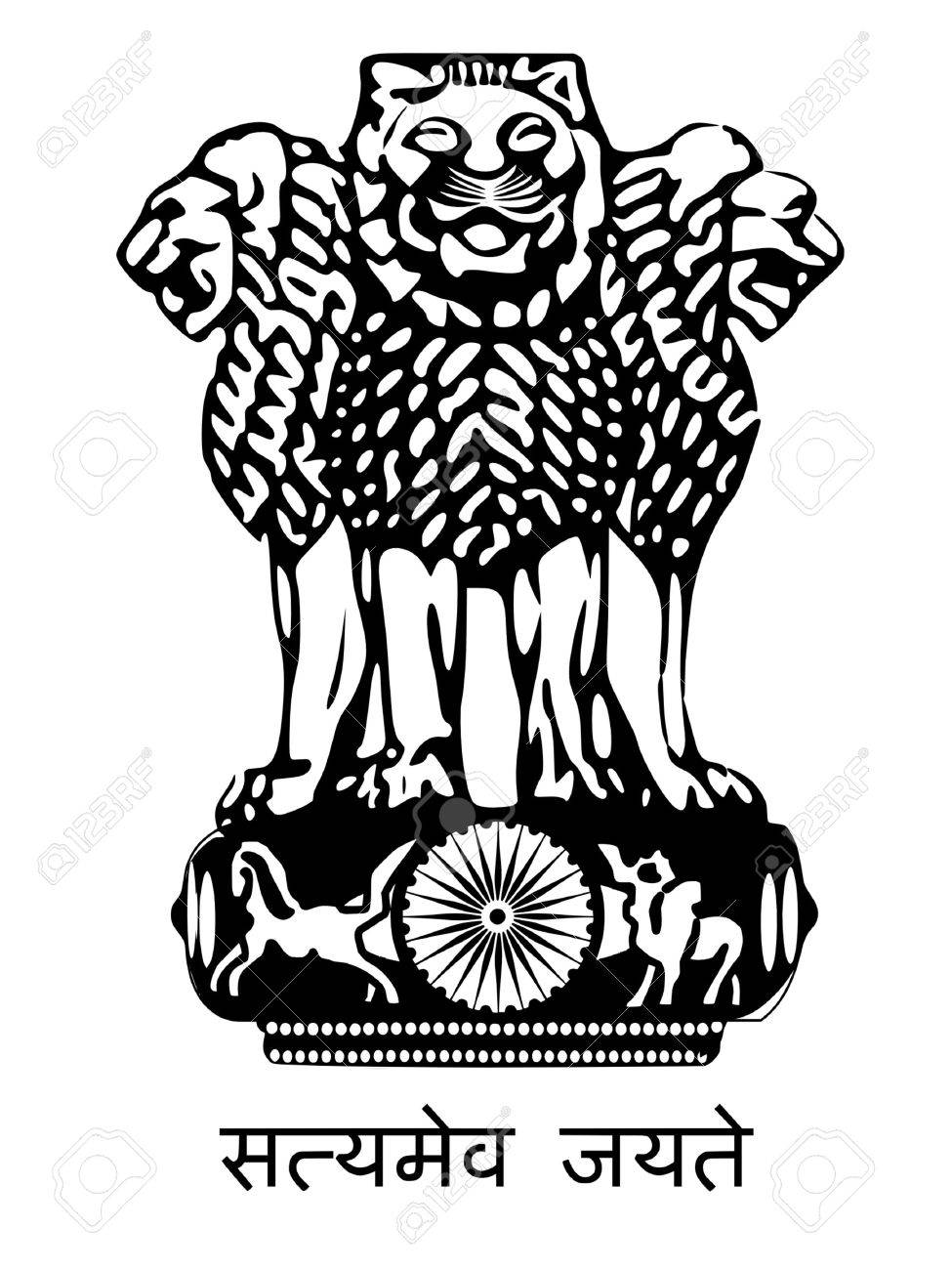 Coat of arms of India Stock Vector - 11751350