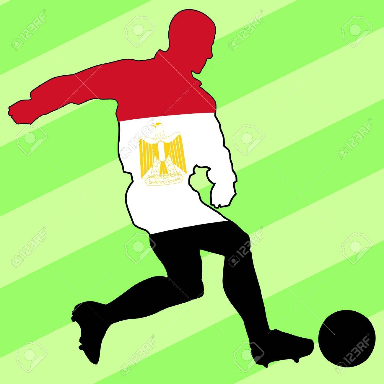 football colours of Egypt Stock Vector - 11749173