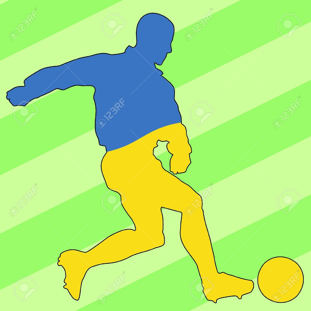 football colours of Ukraine Stock Vector - 11749170