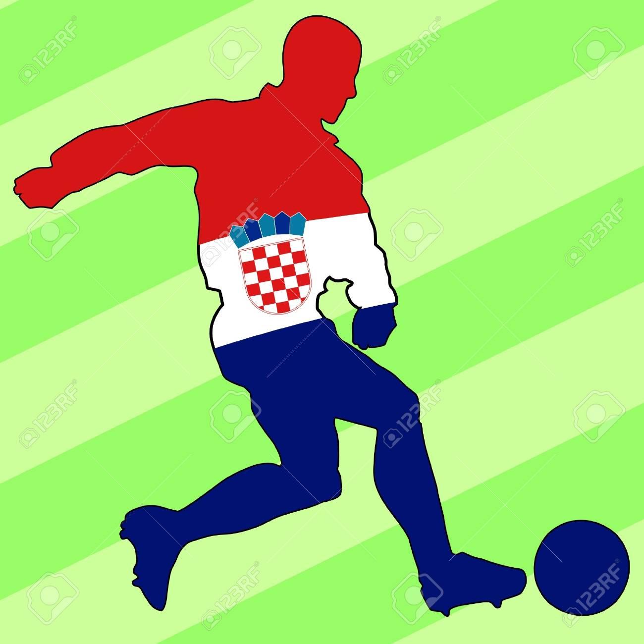 Fußball-Farben Von Kroatien Lizenzfrei Nutzbare Vektorgrafiken, Clip ...