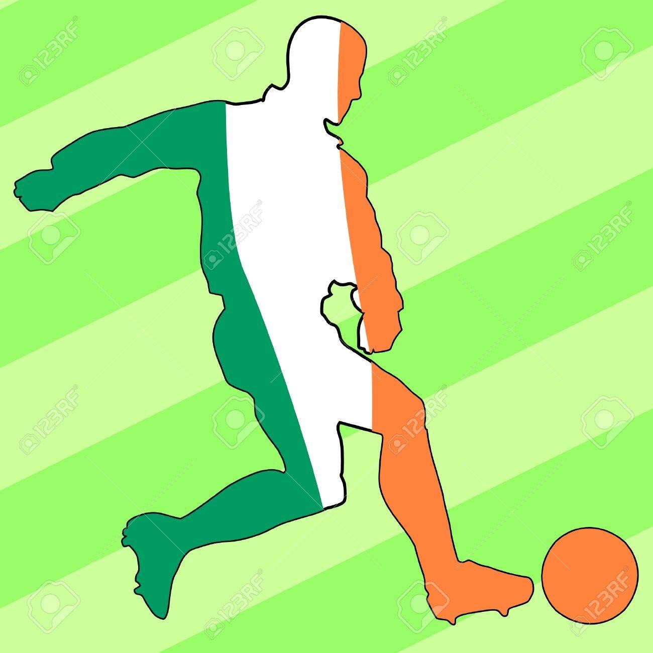 football colours of Ireland Stock Vector - 11749338