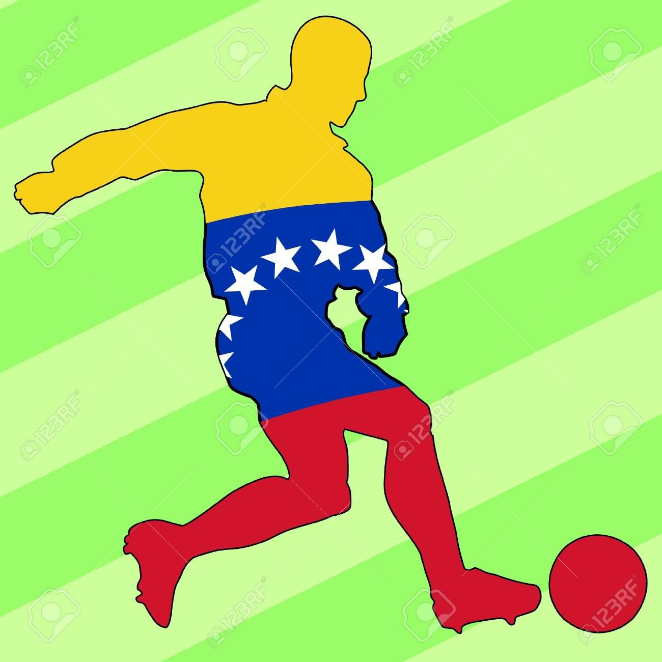 Fußball-Farben Von Venezuela Lizenzfrei Nutzbare Vektorgrafiken ...