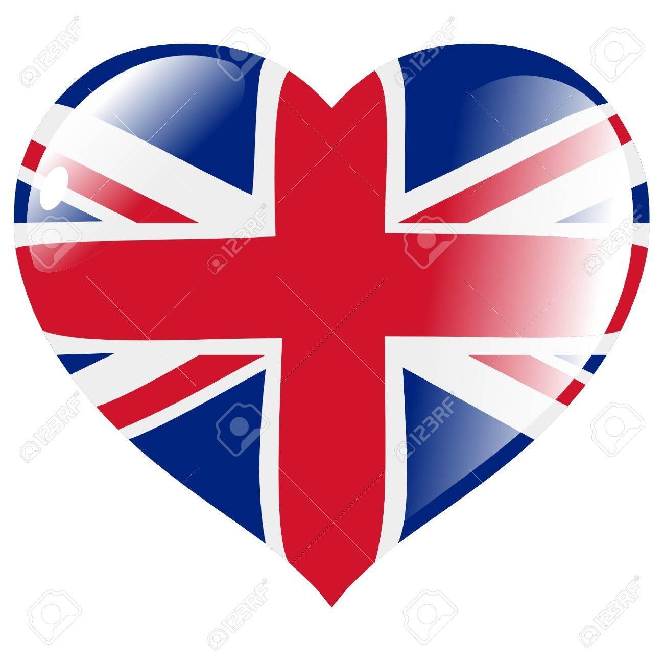United Kingdom in heart Stock Vector - 11782208