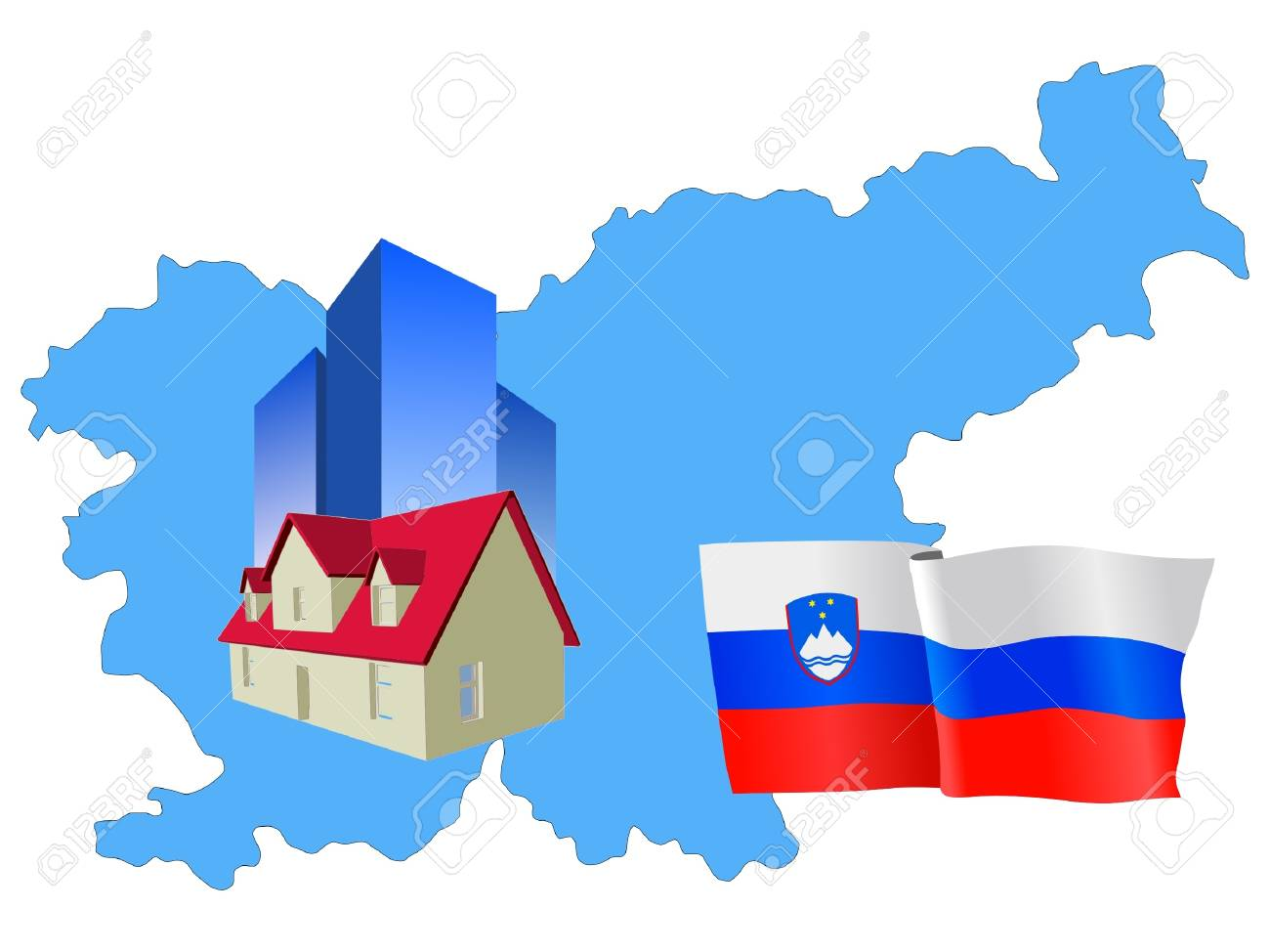 hotel in Slovenia Stock Vector - 11832831
