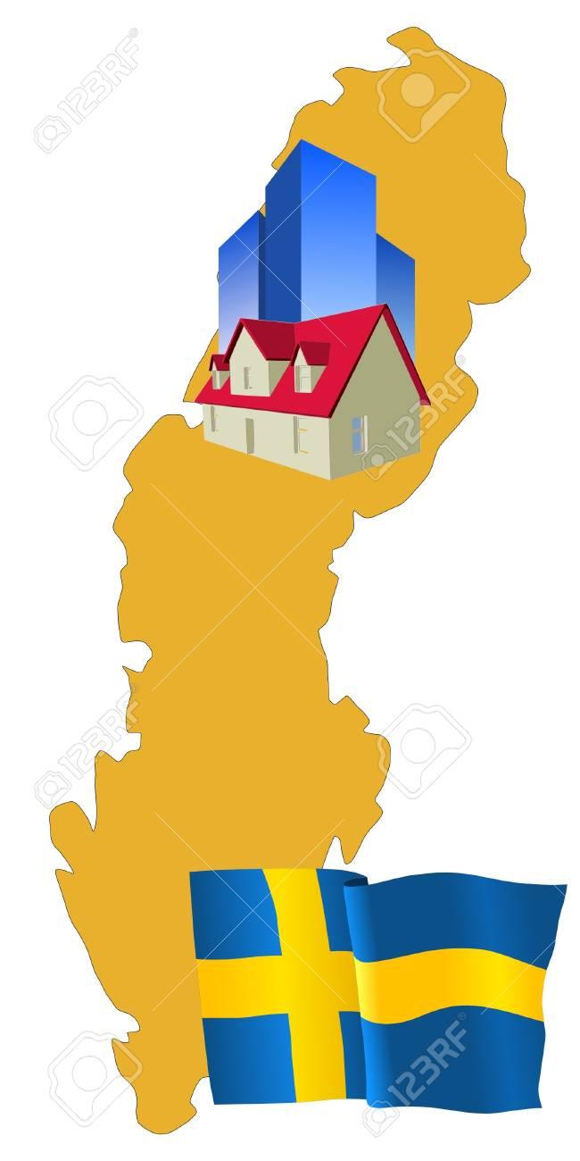 hotel in Sweden Stock Vector - 11832690
