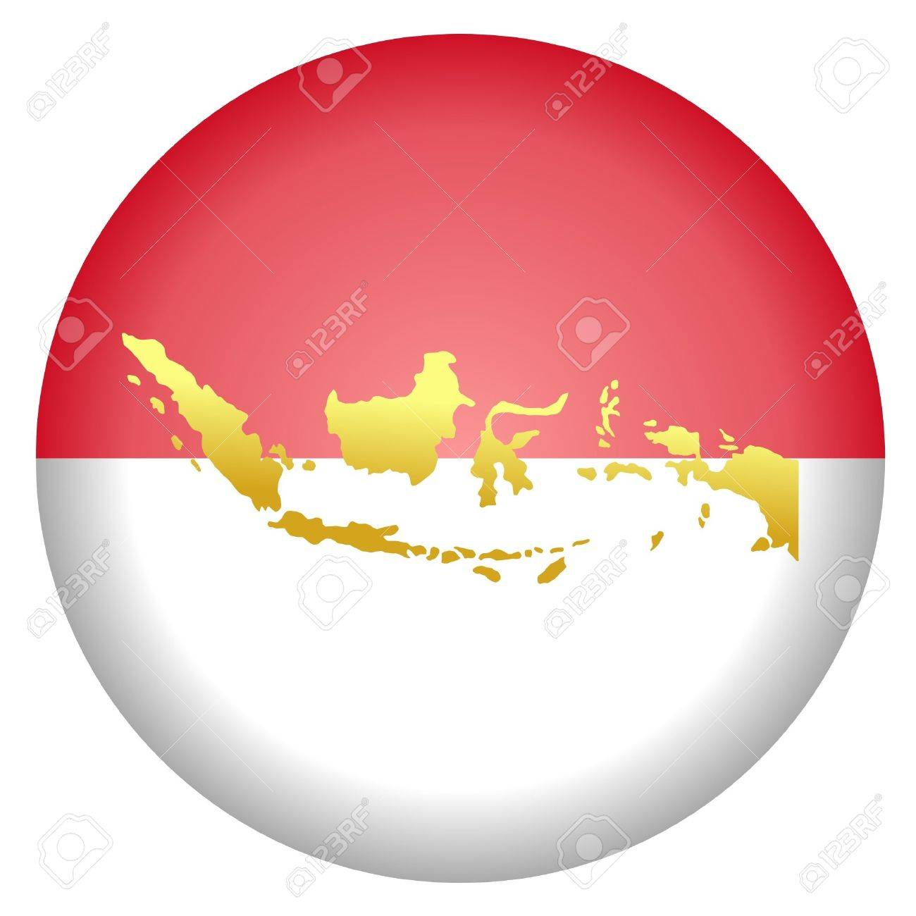 button in national colours of Indonesia Stock Vector - 11832655