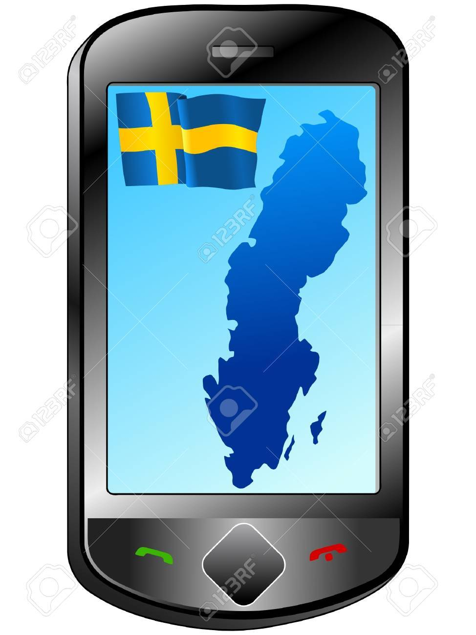Connection with Sweden Stock Vector - 11833077
