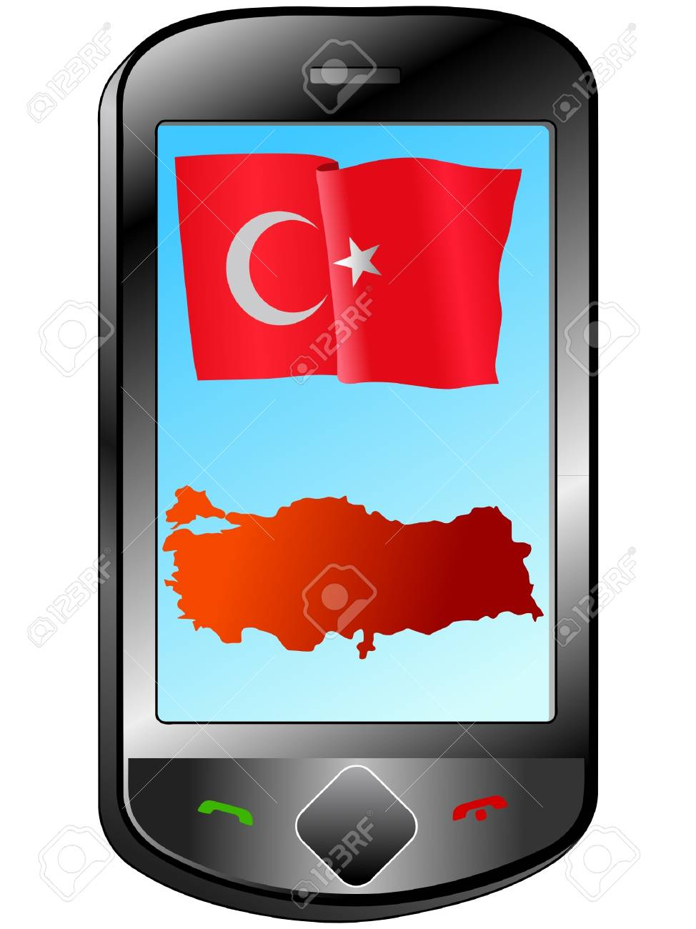Connection with Turkey Stock Vector - 11833066