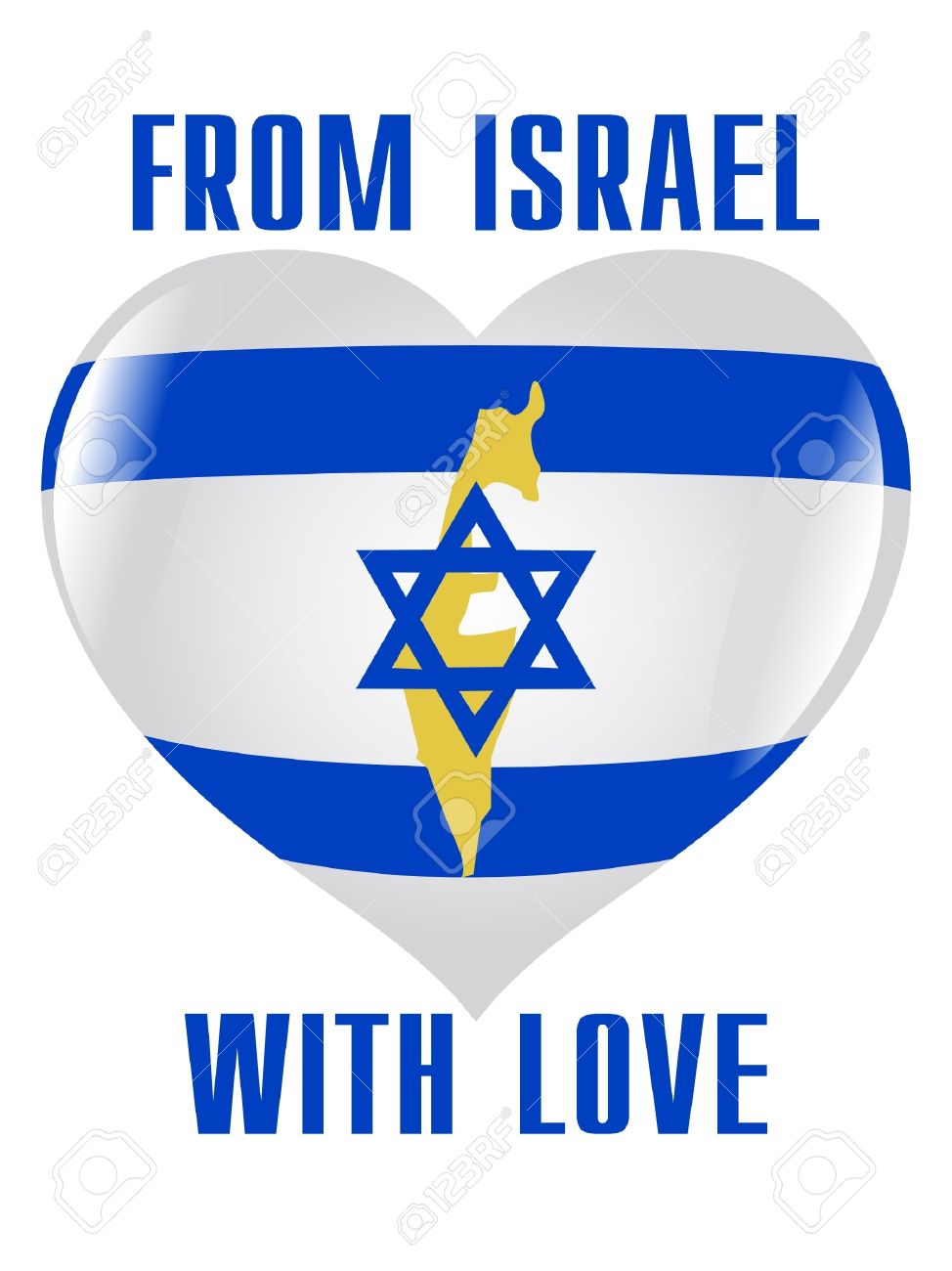 From Israel with love Stock Vector - 11899612