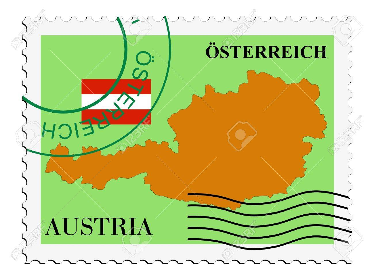 mail to/from Austria Stock Vector - 11899529