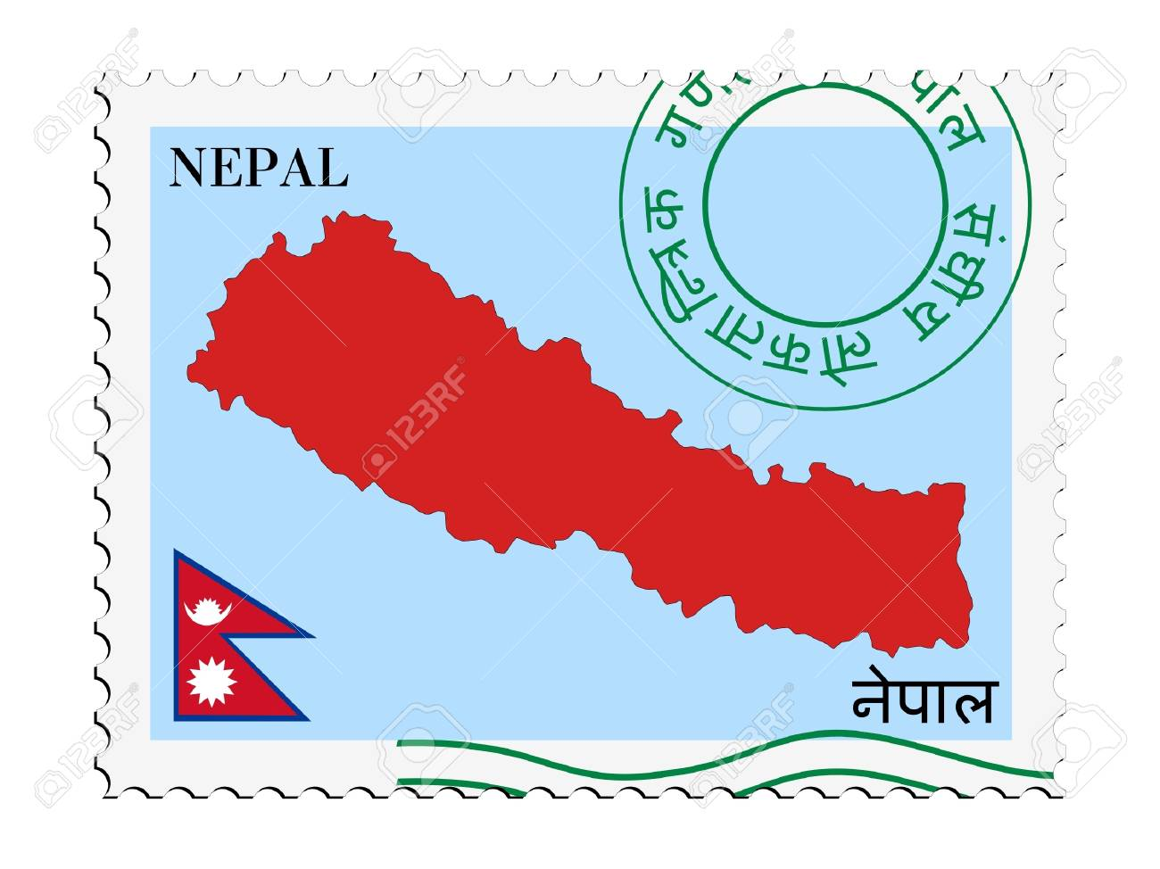 mail to/from Nepal Stock Vector - 11899332