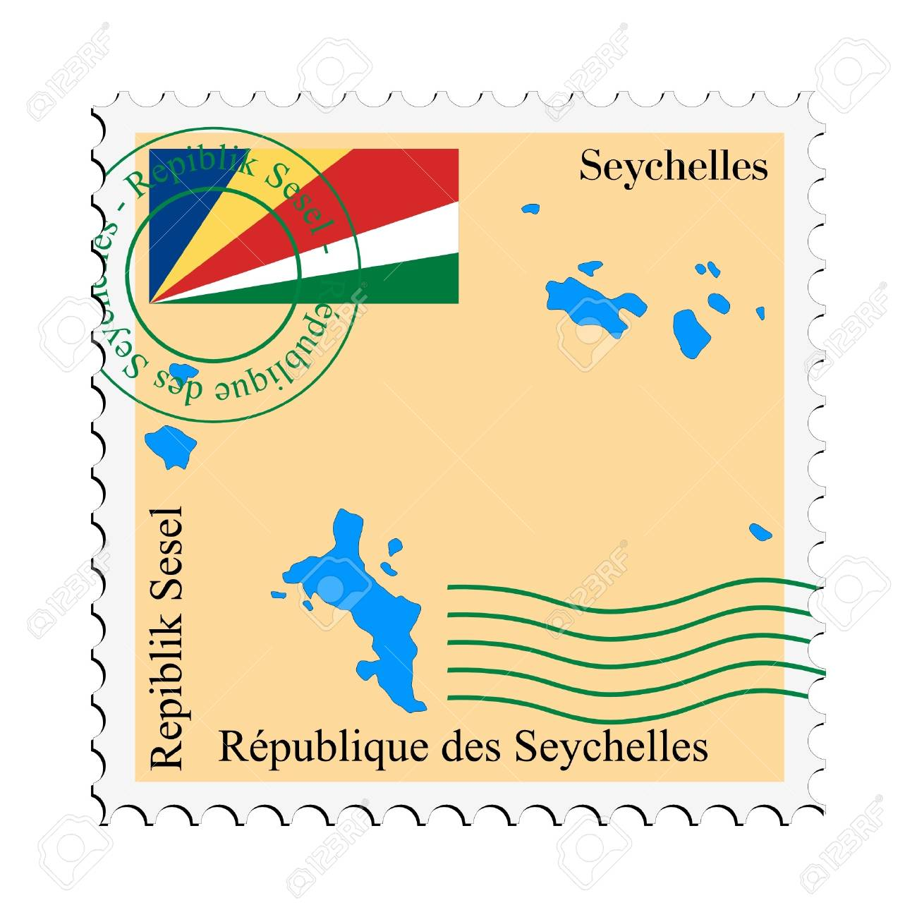 mail to/from Seychelles Stock Vector - 11898510