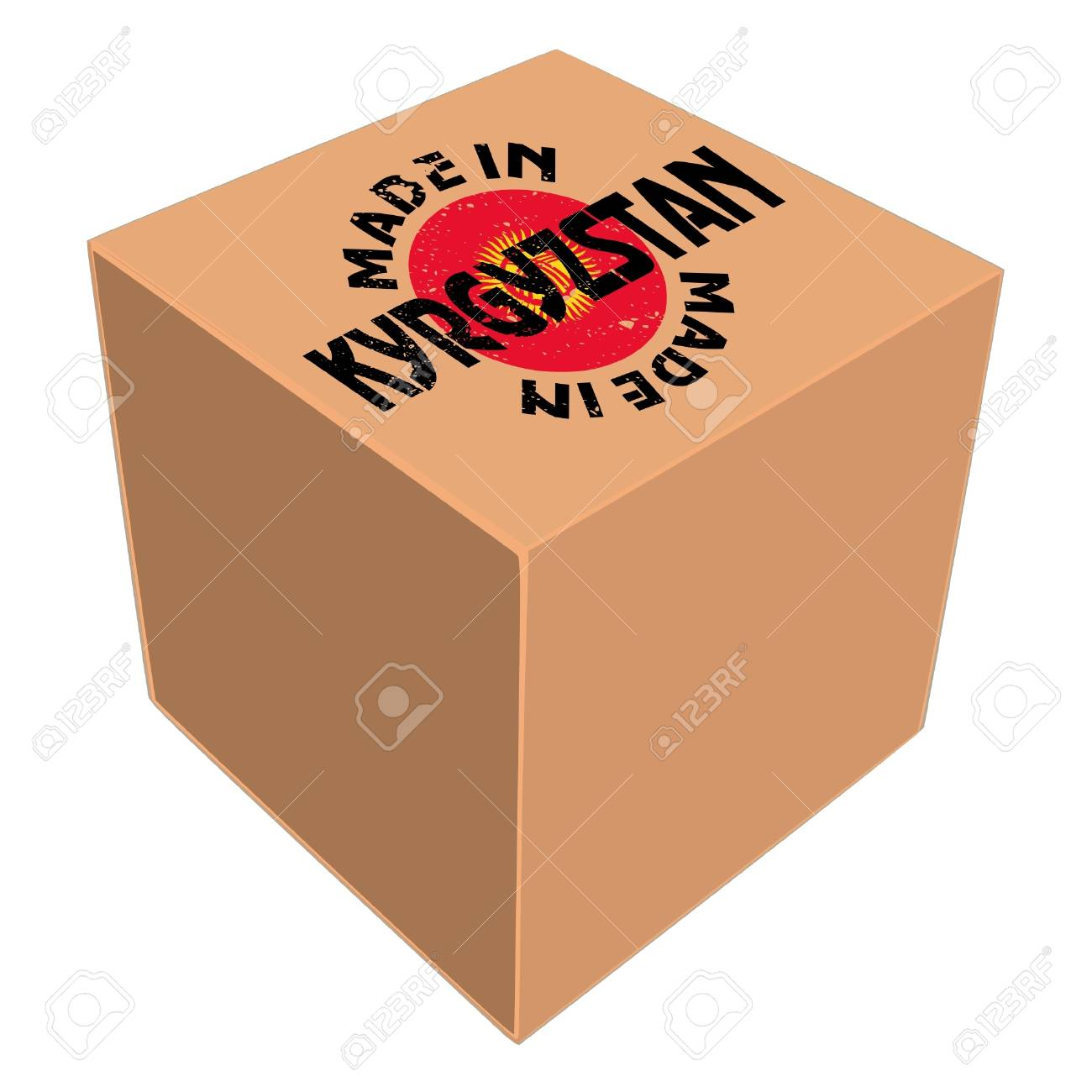 Made in Kyrgyzstan Stock Vector - 11934122