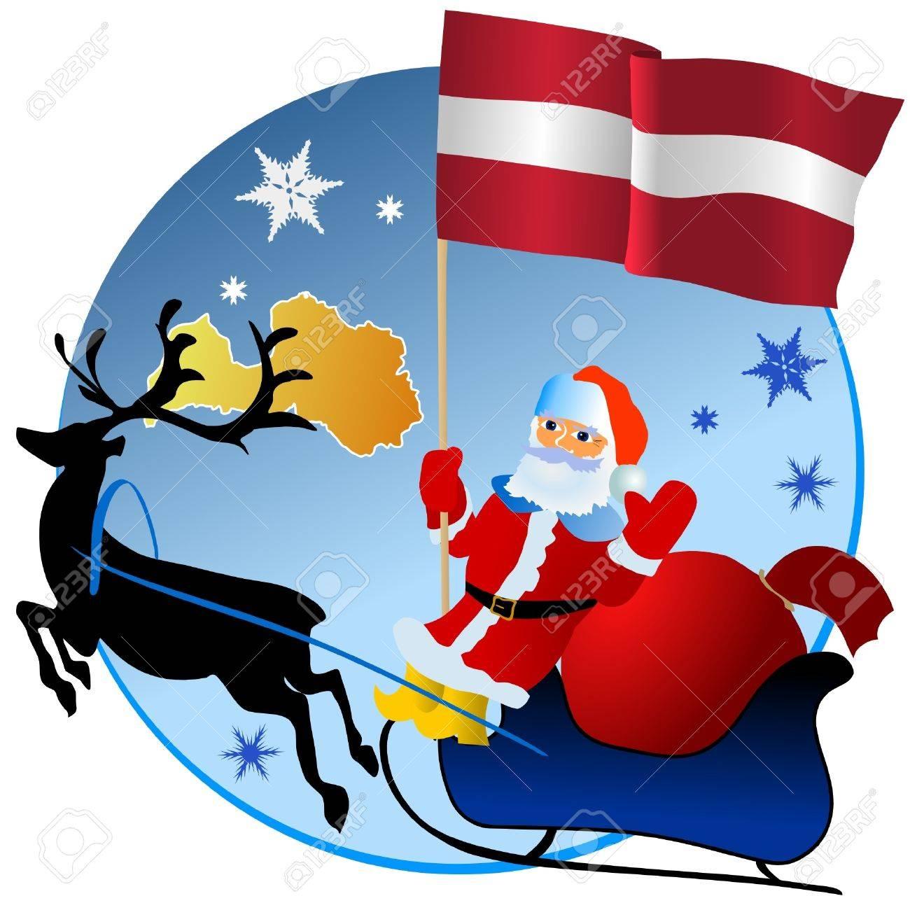 Merry Christmas, Latvia! Stock Vector - 11934382