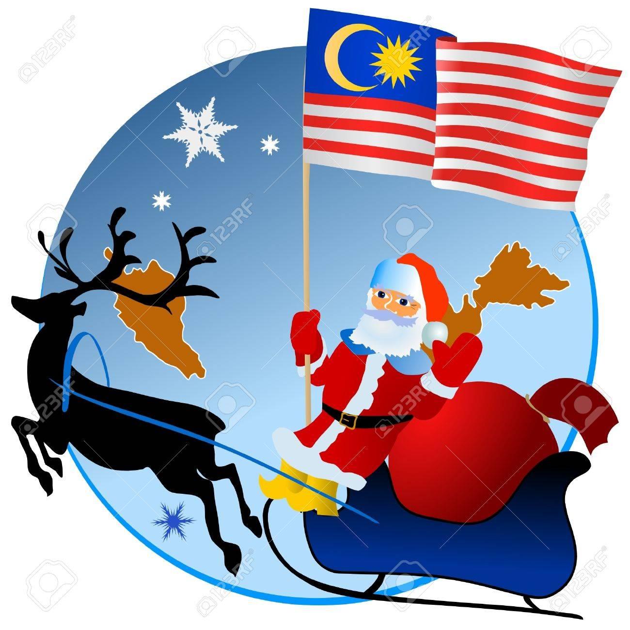 Merry Christmas, Malaysia! Stock Vector - 11934387