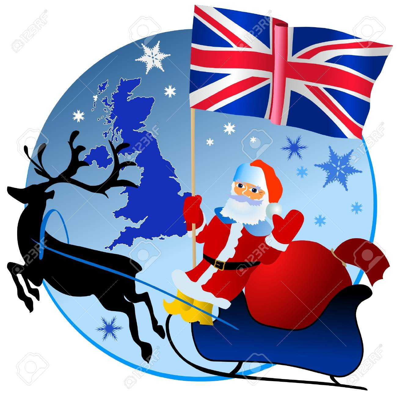 Image result for santa claus united kingdom clipart