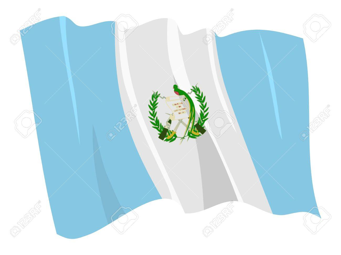political waving flag of guatemala royalty free cliparts vectors