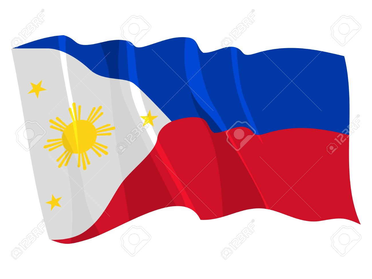 Political Waving Flag Of Philippines Royalty Free Cliparts Vectors And Stock Illustration Image 12495691 Vector files are designed so as to be enlarged in any format without loss of quality. political waving flag of philippines
