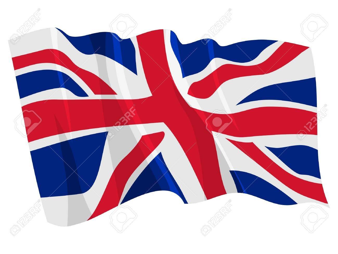 Political waving flag of United Kingdom Stock Vector - 12805083