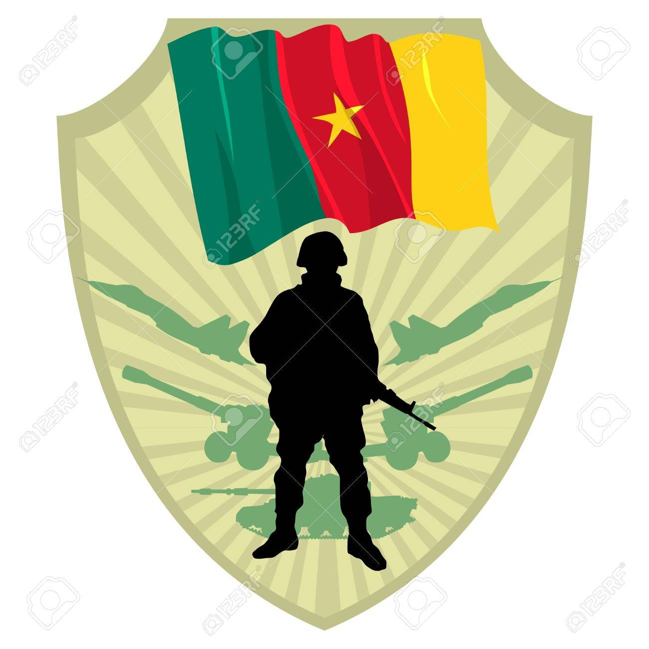 Army of Cameroon Stock Vector - 13454294