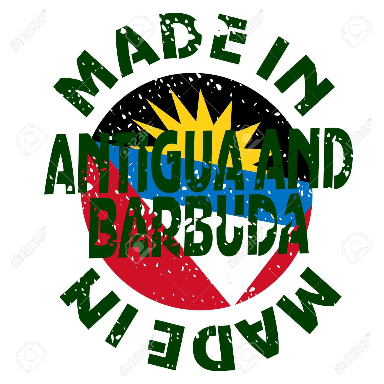 vector label Made in Antigua and Barbuda Stock Vector - 13565514